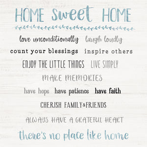 Home Sweet Home Rules Canvas Print