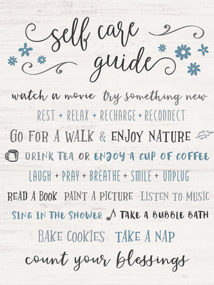 Guide to Self Care Canvas Print