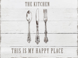 Kitchen Happy Place Canvas Print
