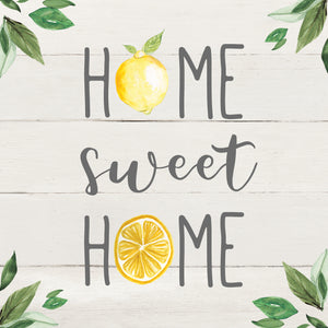 Home Sweet Lemon Home Canvas Print