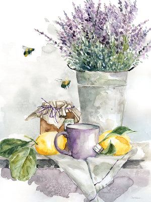 Lavender Lemon and Honey Tea Canvas Print