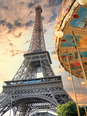 Eiffel Tower and Carousel I Canvas Print