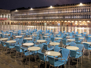 Piazza San Marco At Night Canvas Print