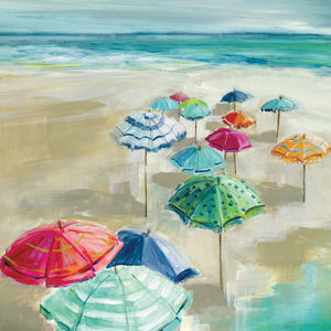 Umbrella Beach I Canvas Print