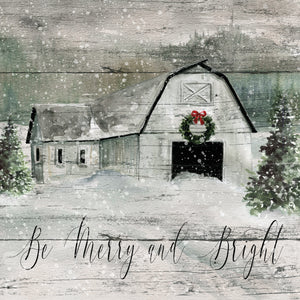 Merry and Bright Barn Canvas Print