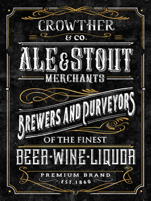 Ale & Stout Canvas Print