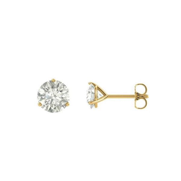 14k Gold Moissanite Diamond Earrings