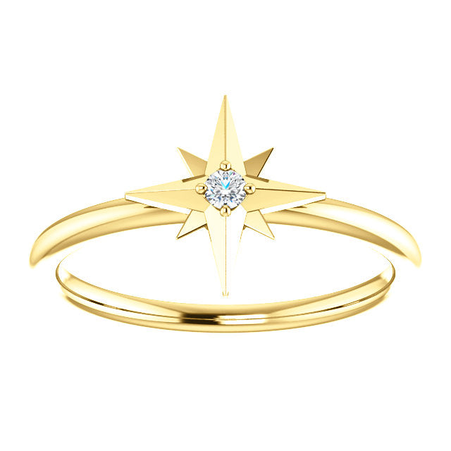 Dainty Diamond Star Ring - YAREMA JEWELRY