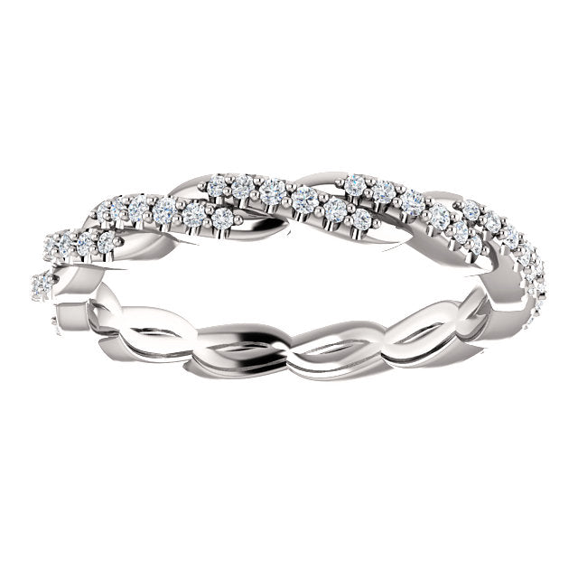 Diamond Twisted Eternity Ring - YAREMA JEWELRY