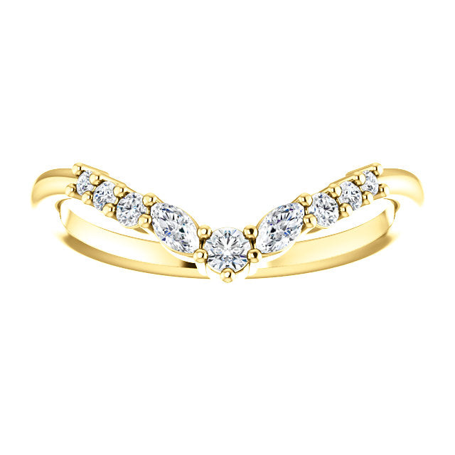 Diamond Contour Ring - YAREMA JEWELRY