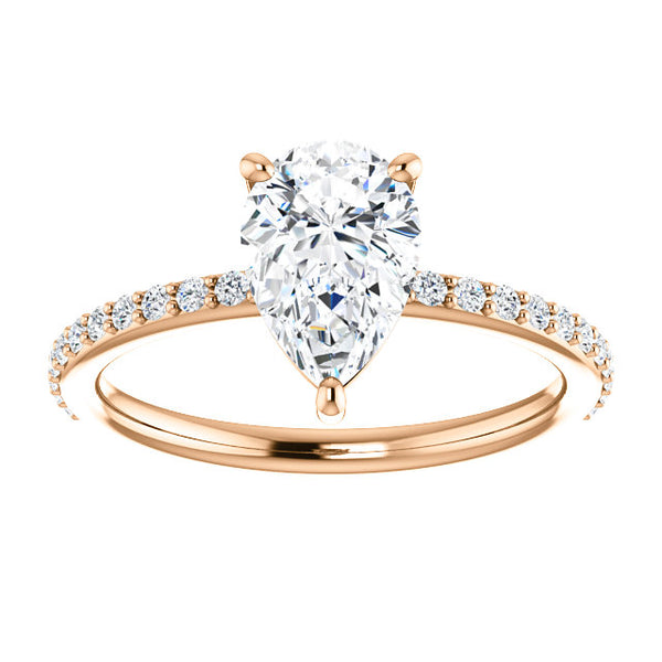 Delphine Moissanite Diamond Ring - YAREMA JEWELRY