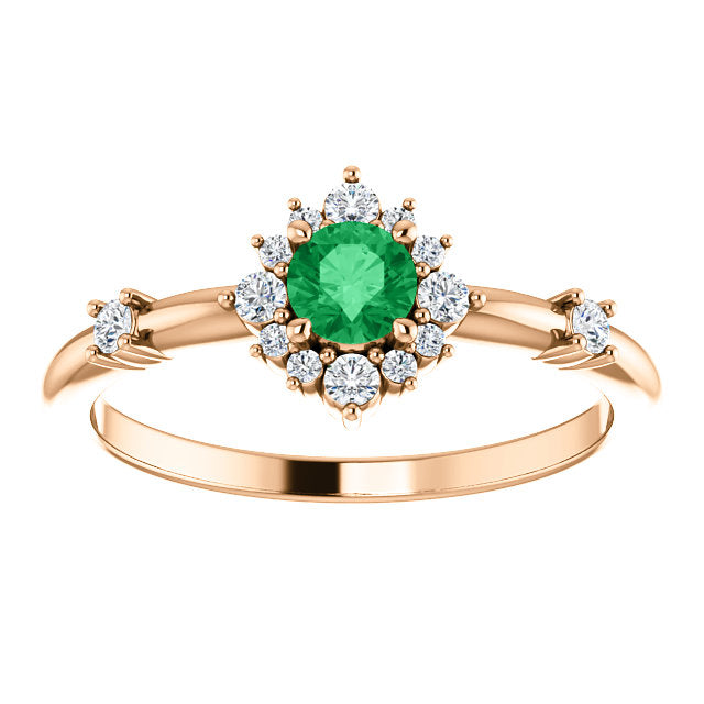 Arcelia Emerald & Diamond Ring - YAREMA JEWELRY