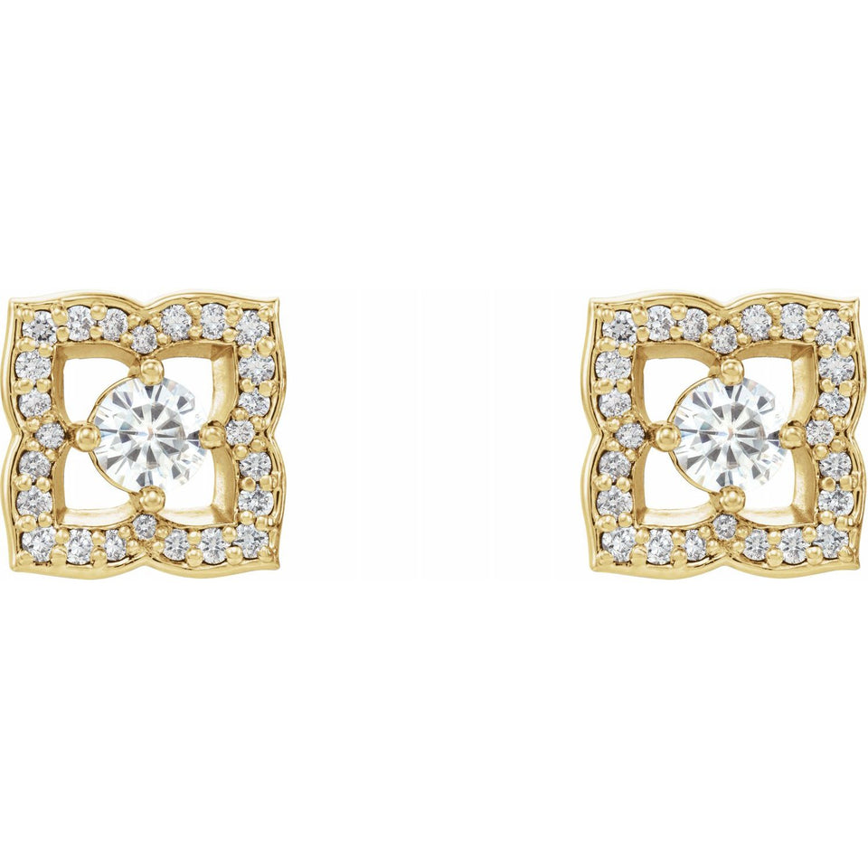 Chiara Diamond Earrings - YAREMA JEWELRY