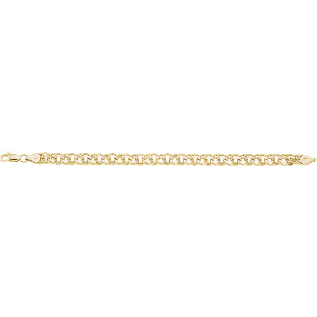 14K Solid Gold Double Link Bracelet - YAREMA JEWELRY