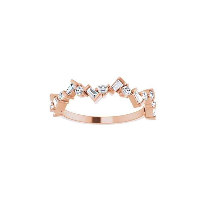 14k Gold Baguette Diamond Ring