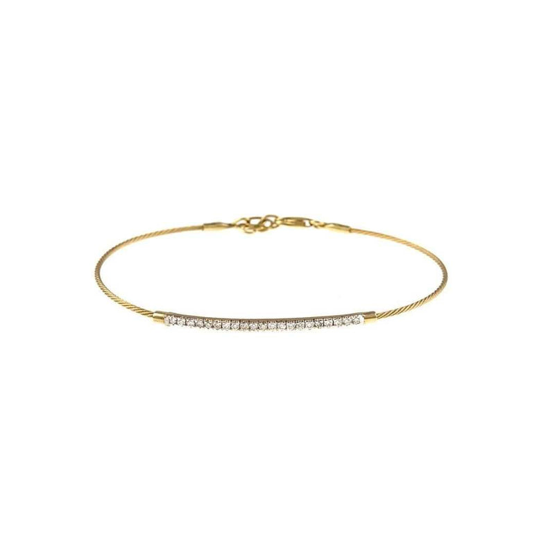 14k Gold Pave Diamond Bracelet