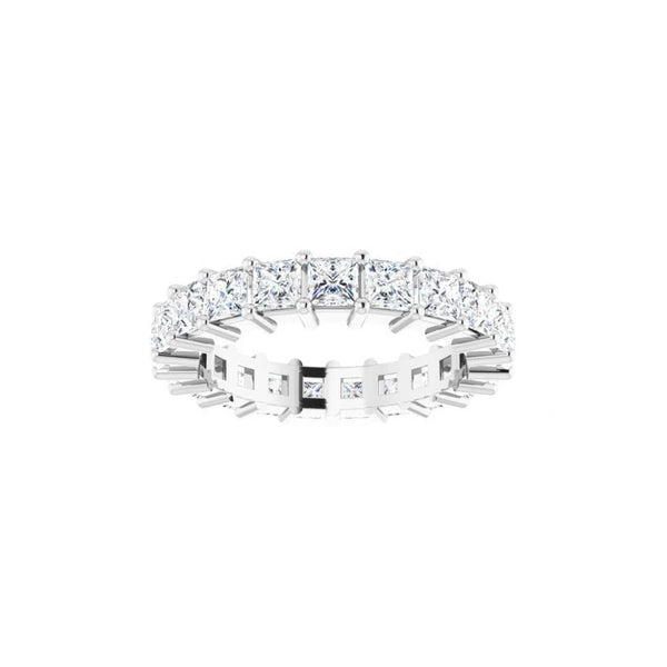 14k Square Diamond Eternity Band