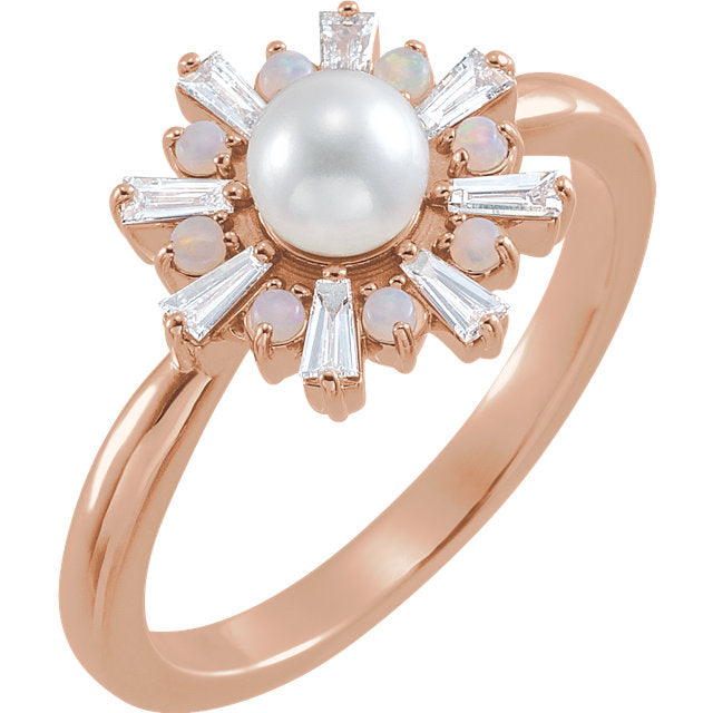 Giorgia Ring with Akoya Pearl - YAREMA JEWELRY