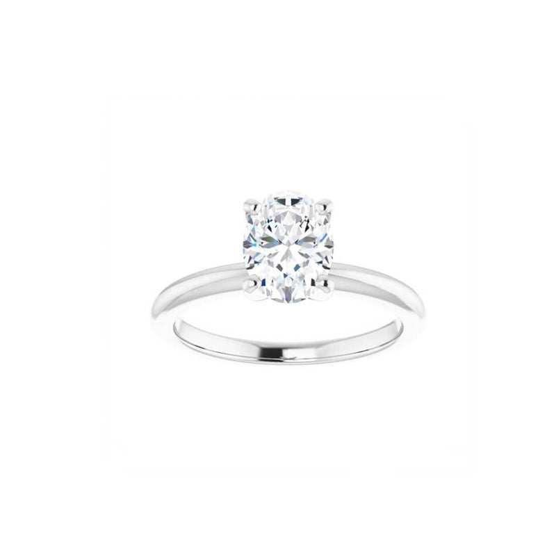 Classic Oval Moissanite Engagement Ring