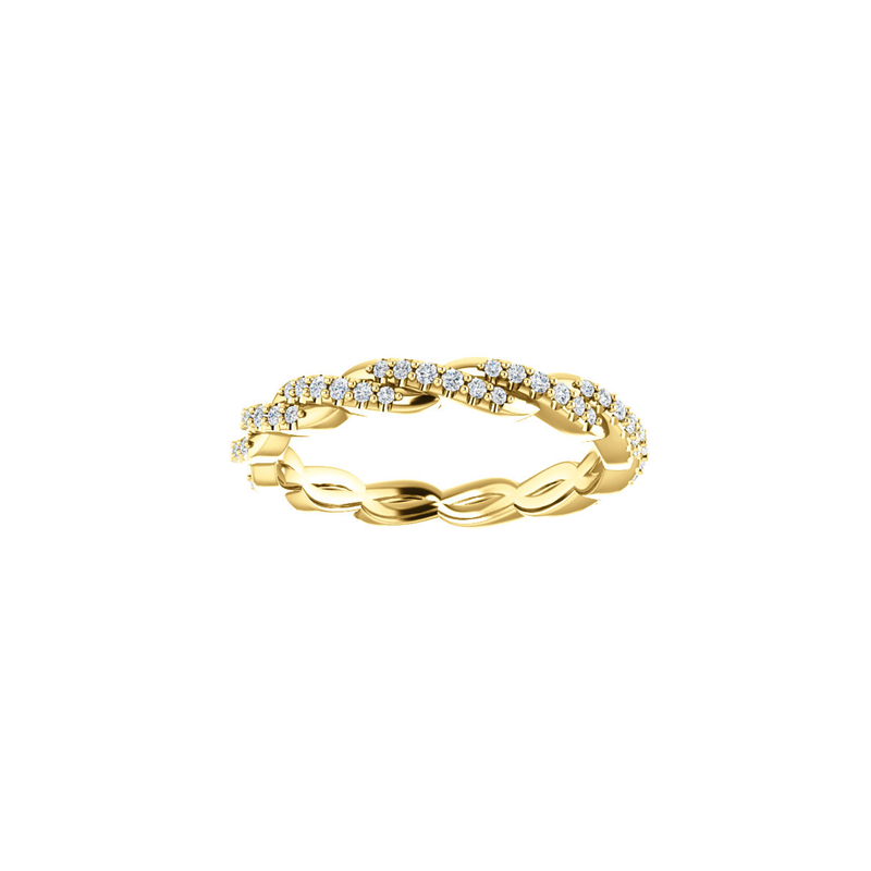 14k Diamond Twisted Eternity Ring