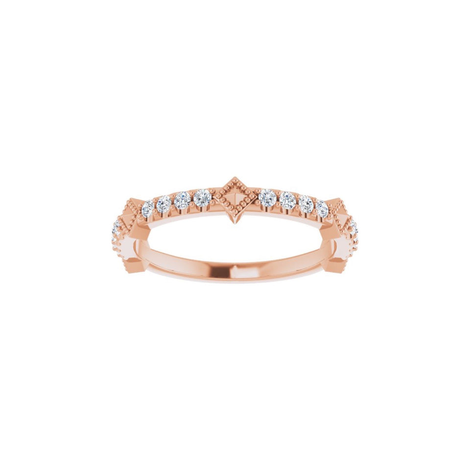 Faridah Diamond Stackable Ring