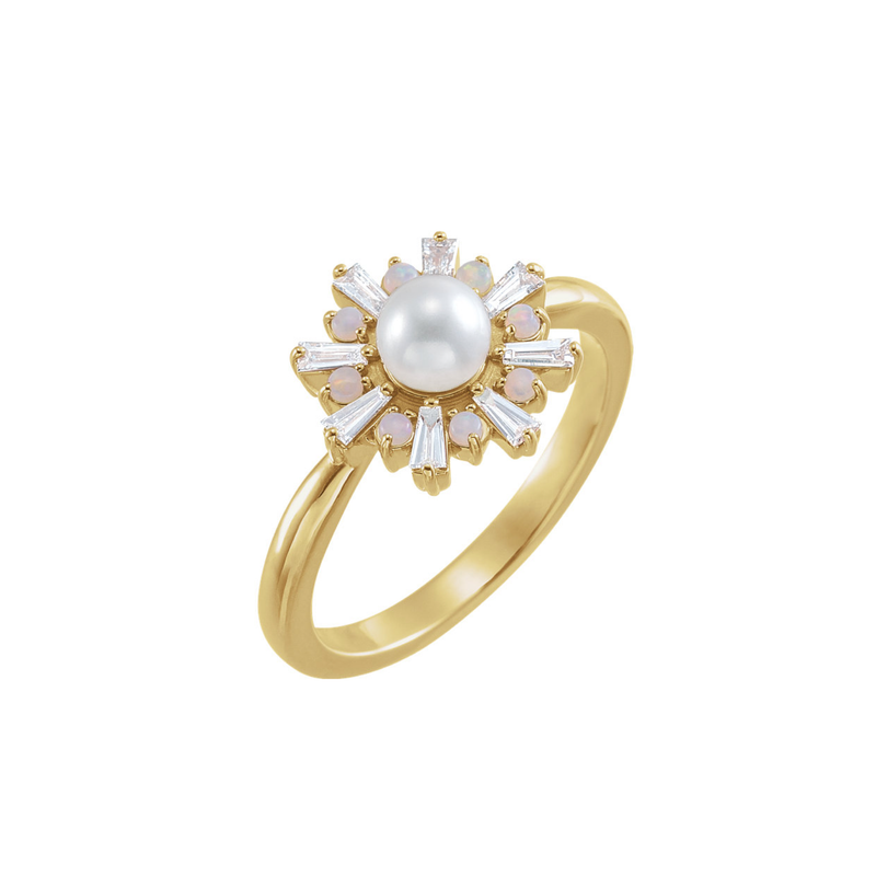 14k Giorgia Ring with Akoya Pearl