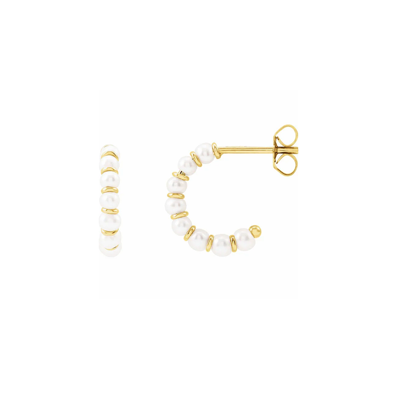 Perlina Small Gold Hoop Earrings