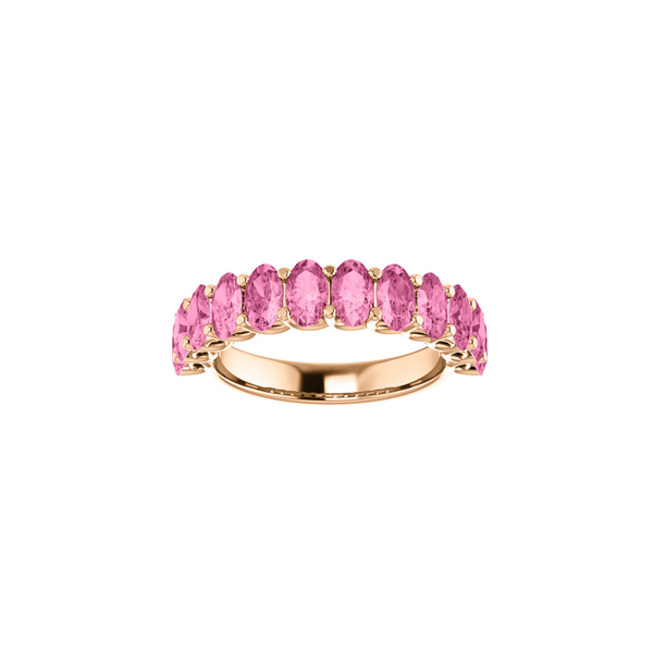 Lillie Pink Sapphire 18k Gold Ring
