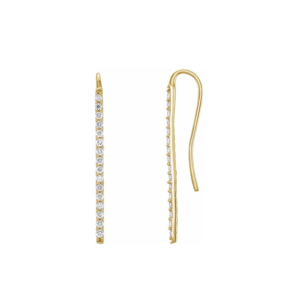 Maddison Diamond Bar Earrings