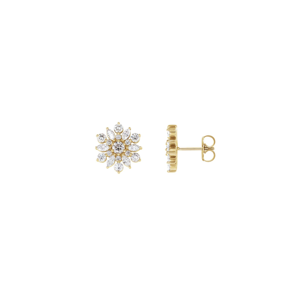 Bella Diamond Earrings - YAREMA JEWELRY