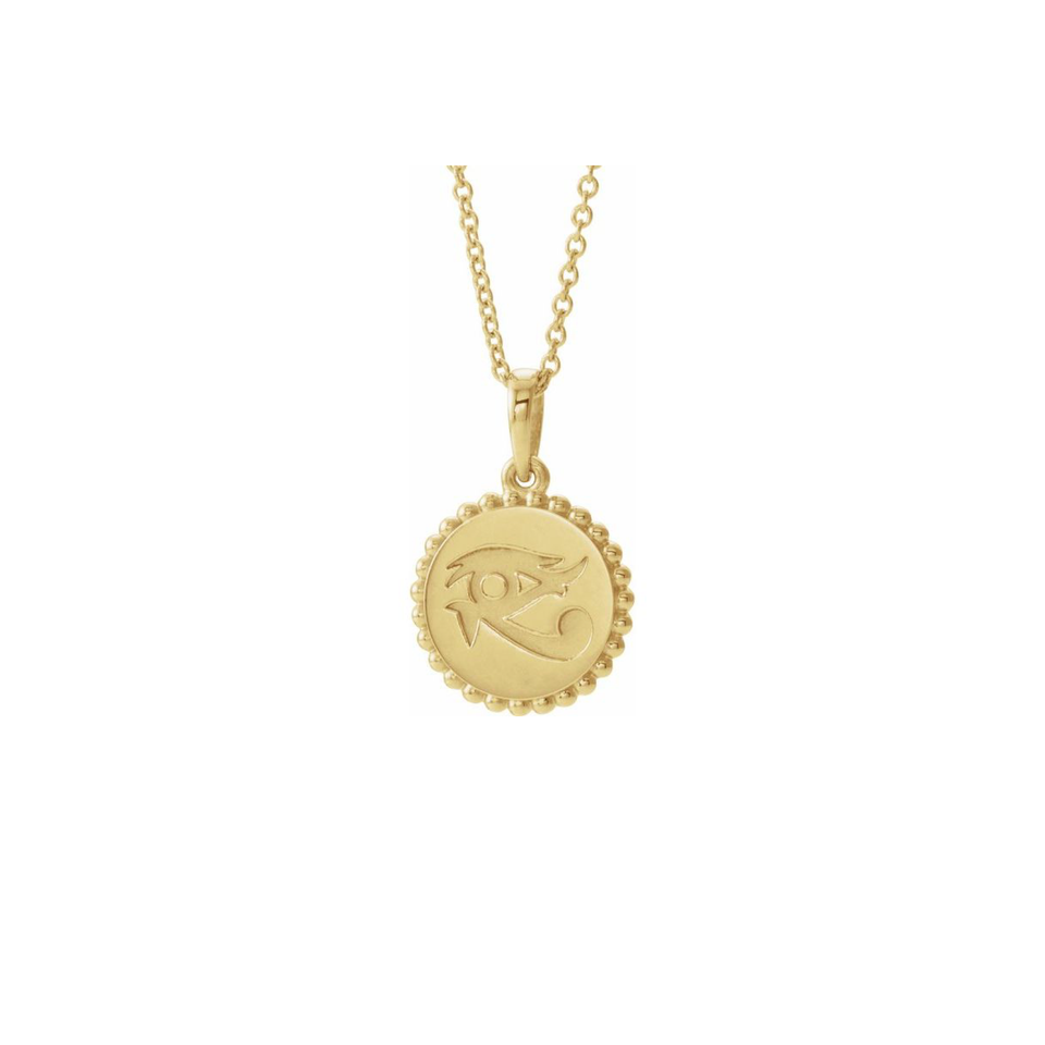 Eye of Horus 14k Gold Necklace - Yarema Jewelry