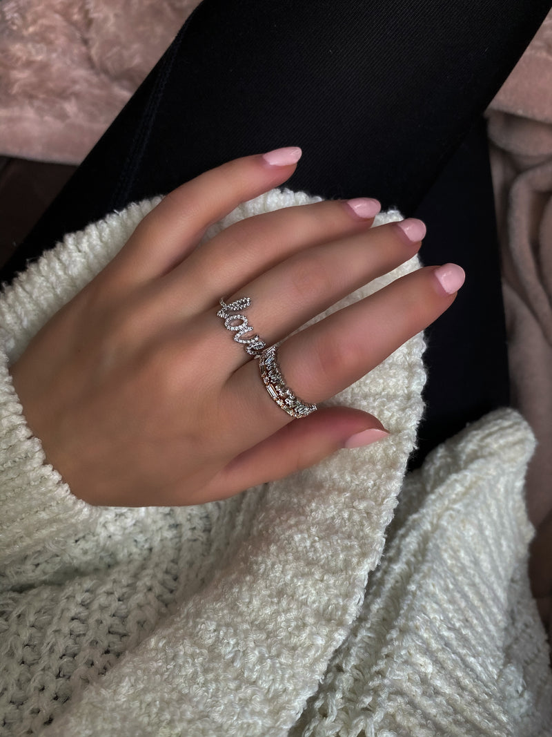 14k Rose Gold Baguette Diamond Ring