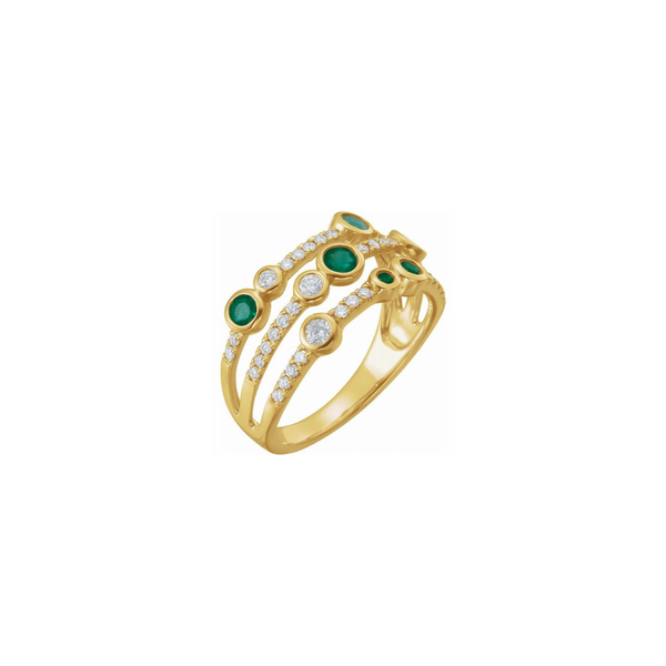 14k Emerald & 3/8ctw Diamond Ring