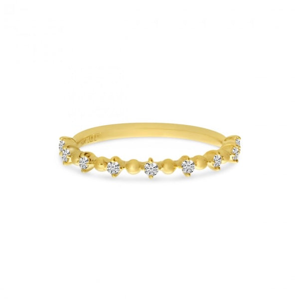 14k Petite Diamond Ball Stackable Ring
