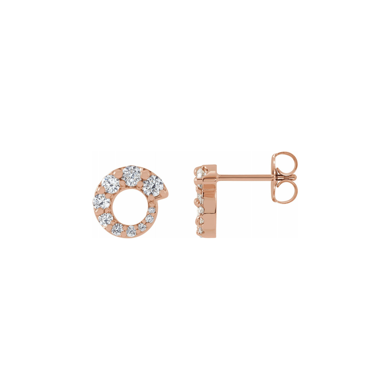 14k Diamond Hoop Lizey Earrings