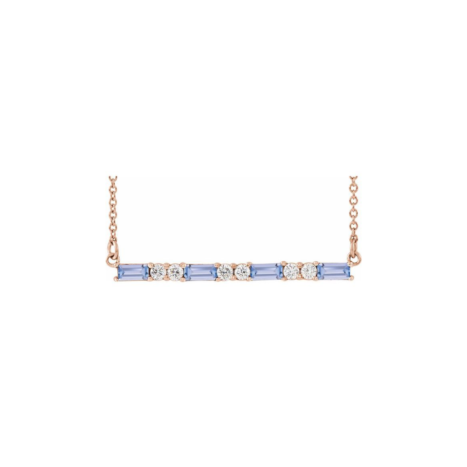 Tanzanite & Diamond Platinum Necklace