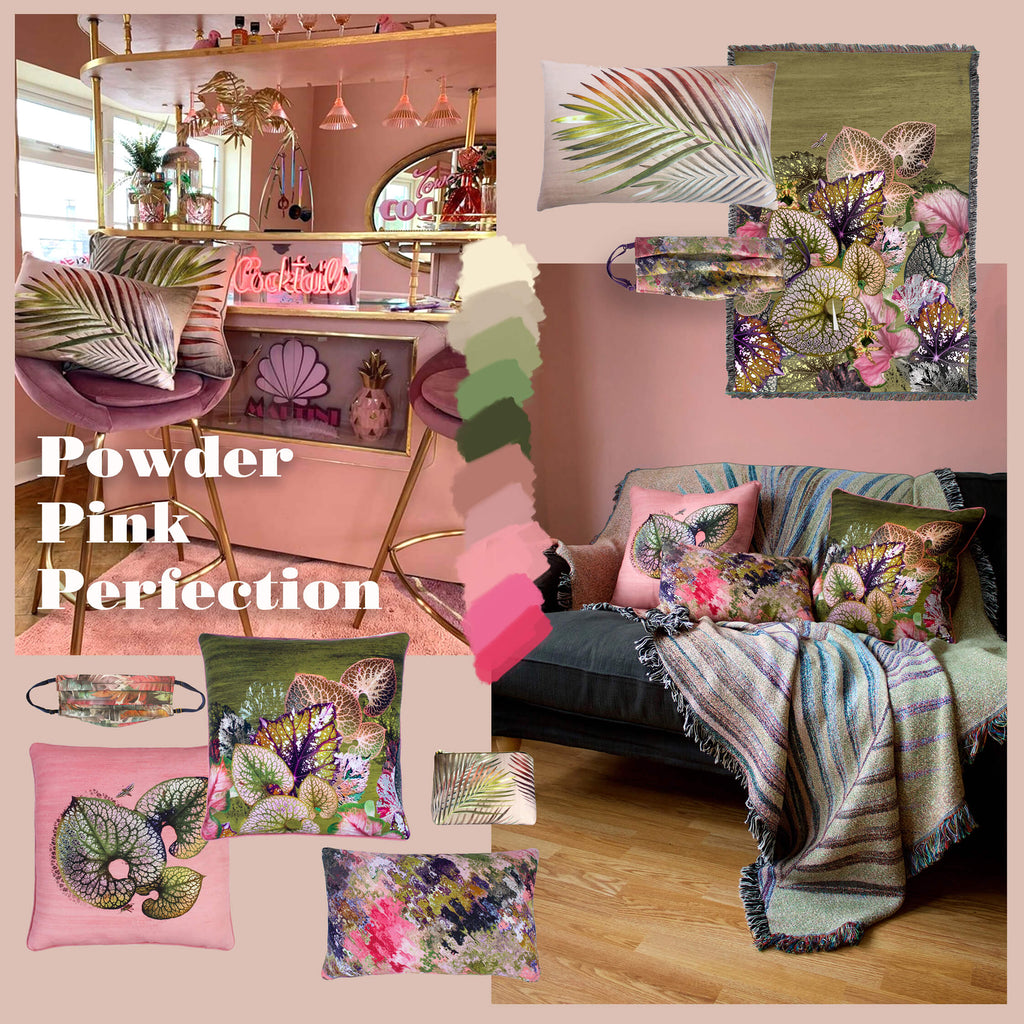 Leila Vibert-Stokes How to Use pink in interiors dusty pink and green ideas