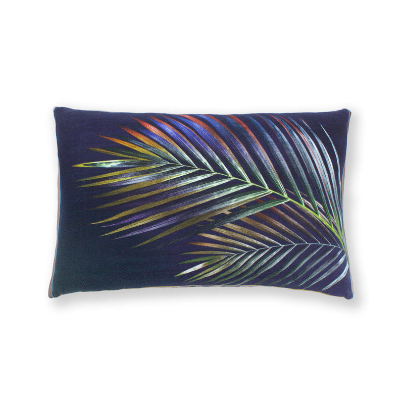 Rectangular Navy Arecace Cushion