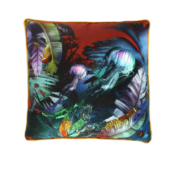 Blue Medusozoa Cushion