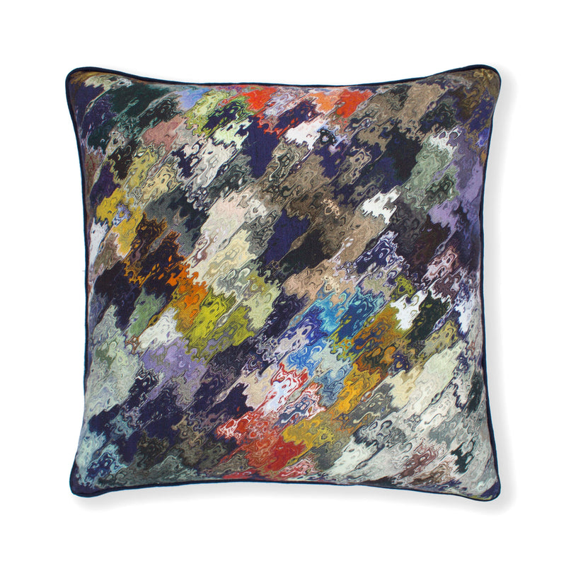 Navy Abstract Cushion