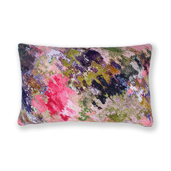 Rose Abstract Rectangular Cushion