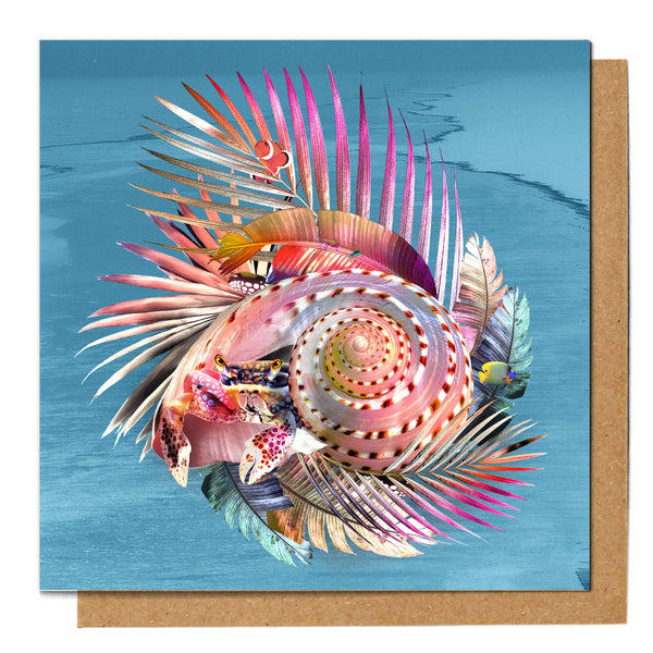 Elton the Hermit Crab Greeting Card