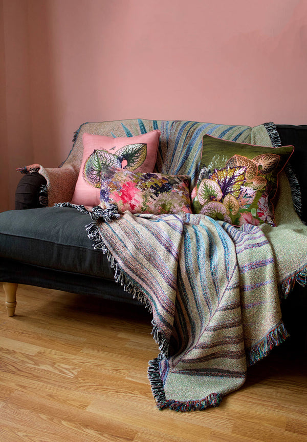 English Garden Pink and Green Cushion