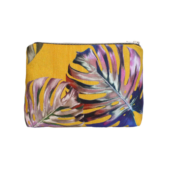 Gold Monstera Make-up Bag