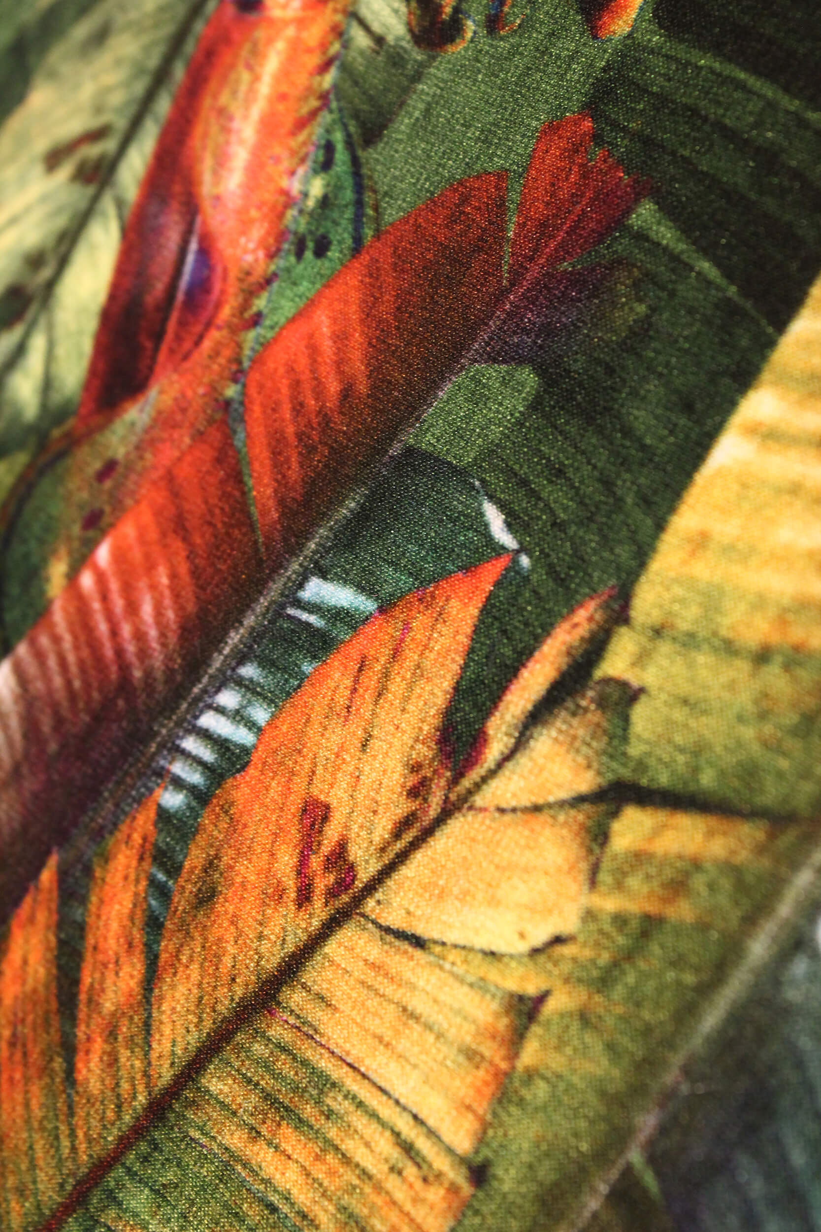 Close Up emerald banana leaf print luxury silk tencel covered notebook by leila Vibert-Stokes