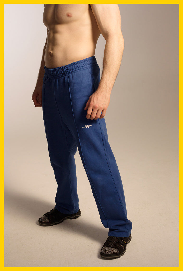 Logo Sweatpants — Blue