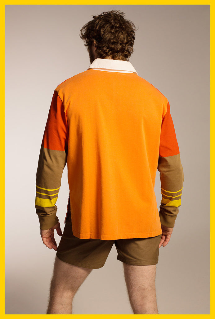 Rugby Shirt — Orange Multi
