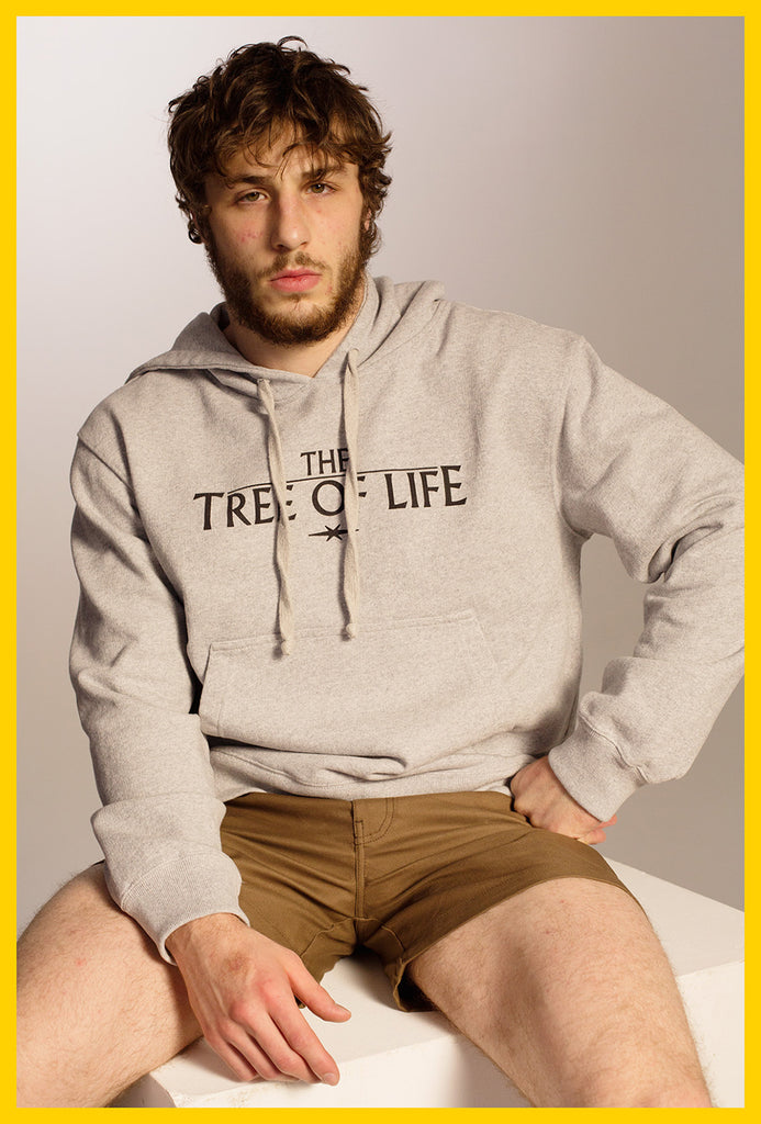 Tree of Life Hoodie — Grey Melange