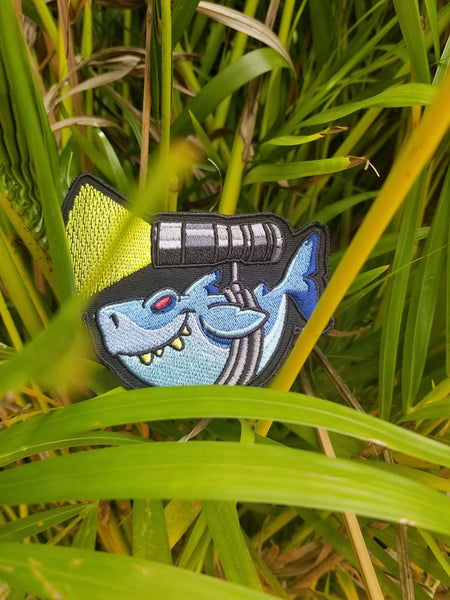 PhotonPhreaks Shark Phreak Velcro Backed Embroidered Flashlight Morale Patch