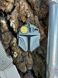 PhotonPhreaks Phandolorian Badge with Glow in the Dark Triple Headlamp (available with pin or velcro attachment methods) - PhotonPhreaks